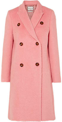 Paul & Joe Lockie Double-breasted Brushed-felt Coat - Pink