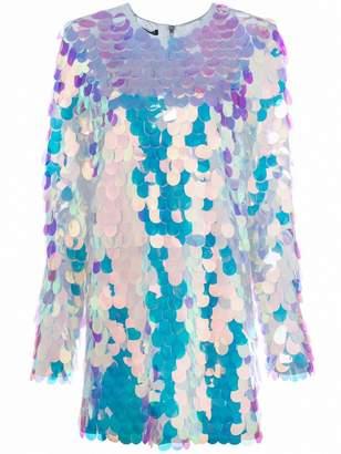 Balmain paillette short dress