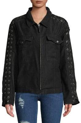 Free People Faye Collared Cotton Jacket