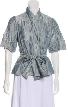 Armani Collezioni Short Sleeve Jacquard Jacket