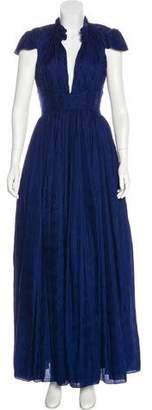 Zac Posen Silk Crepe Gown