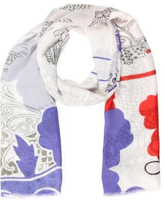 Diane von Furstenberg Floral Print Scarf $65 thestylecure.com