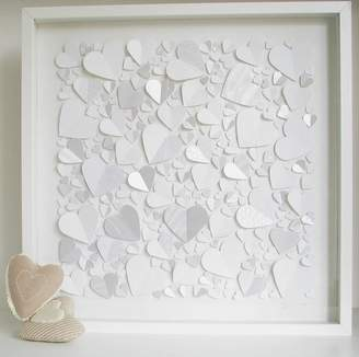 all in a square Personalised Captured Hearts Framed Picture