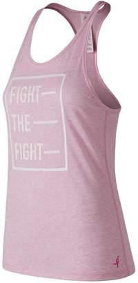 New Balance Women's Pink Ribbon Heather Tech Tank
