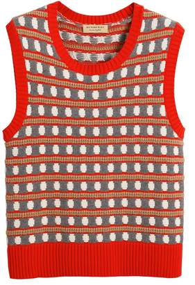 Burberry Geometric Cashmere Tank Top