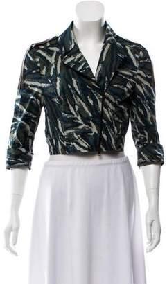 Save The Queen Printed Zip-Up Jacket