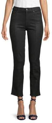 7 For All Mankind Edie High-Rise Cropped Straight Jeans