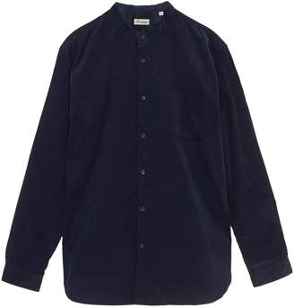 Camoshita Mandarin collar corduroy shirt
