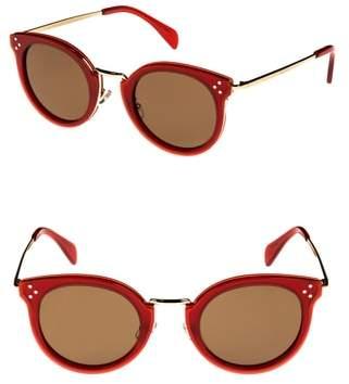 Celine 49mm Round Sunglasses