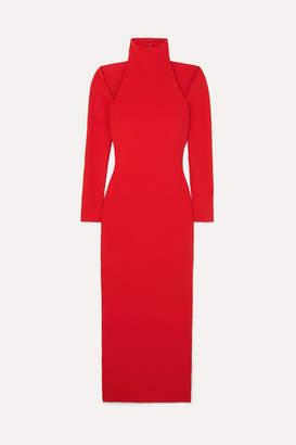 SOLACE London Grayson Cutout Stretch-crepe Midi Dress