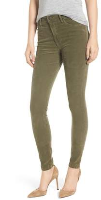 AG Jeans The Farrah High Waist Skinny Corduroy Pants