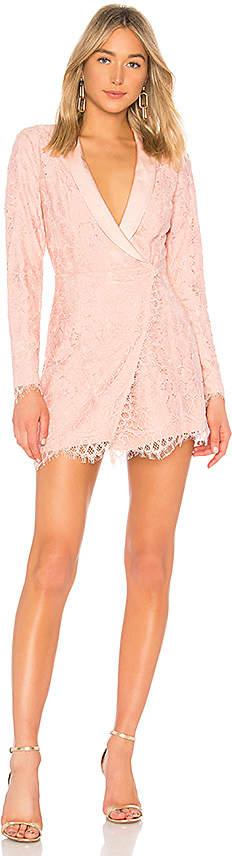 X by NBD Que Bonita Lace Tux Dress