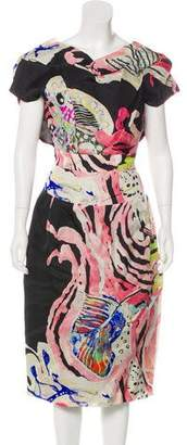 Christian Lacroix Silk Midi Dress