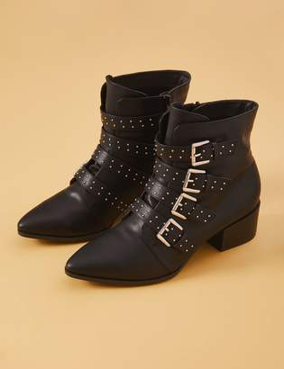 Studded Strap Bootie