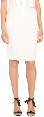 St. John Flagged Textural Knit Skirt