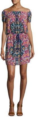 Nanette Lepore Desert Diamond Off-the-Shoulder Dress, Multi $152 thestylecure.com