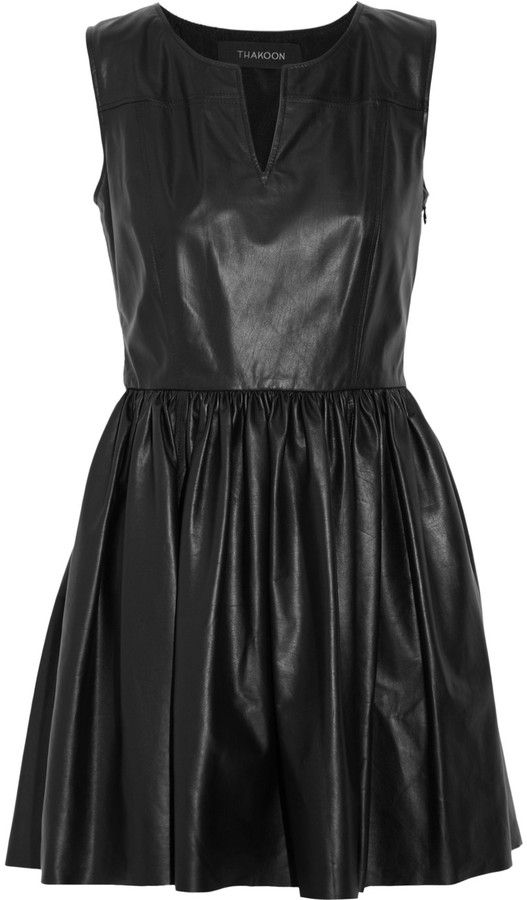 Thakoon Leather mini dress