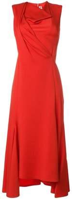 Victoria Beckham draped front midi dress
