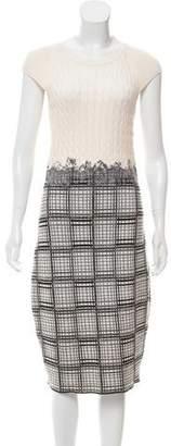 Oscar de la Renta Felted Virgin Wool & Silk Dress