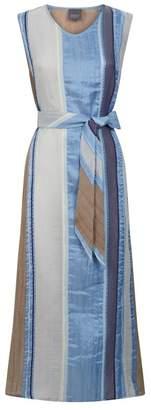 Lorena Antoniazzi Silk-Cotton Striped Maxi Dress