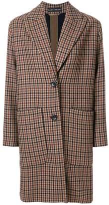 Luisa Cerano plaid tailored coat