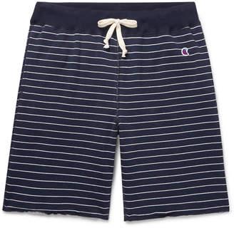 Todd Snyder + Champion + Champion - Striped Loopback Cotton-Jersey Drawstring Shorts