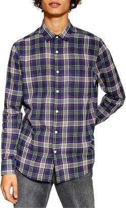 Topman Slim Fit Tartan Shirt