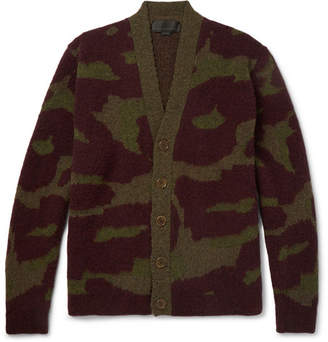 Stella McCartney Camouflage-Intarsia Brushed Wool-Blend Cardigan