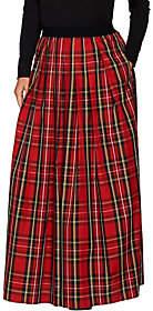 Joan Rivers Classics Collection Joan Rivers Regular Length Holiday PlaidMaxi Skirt
