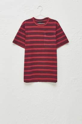 French Connenction Garment Dye Triple Stripe T-Shirt