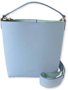 Blue Duck NEW Leather Bucket Bag in Misty Blue & Duck Egg Women's by Alice Pleasance