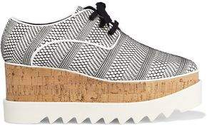 Stella McCartney Elyse Woven Faux Leather Platform Brogues