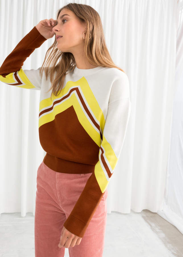 Varsity Knit Sweater