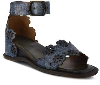 Spring Footwear Halo-Strap Wedge Sandal