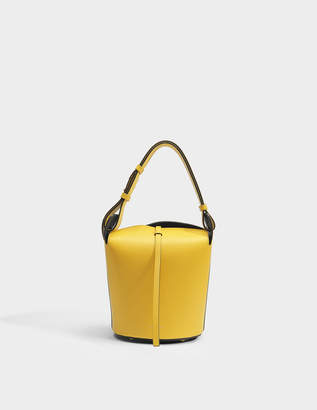 Burberry Small Bucket Bag in Bright Larch Yellow Supple Leather
