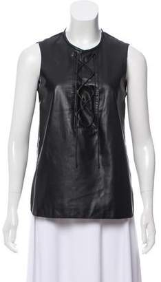Tess Giberson Sleeveless Lace-Up Top w/ Tags
