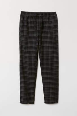 H&M Flannel Pajama Pants - Black