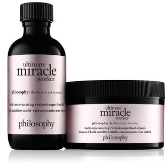 Philosophy Ultimate Miracle Worker Miraculous Anti-Aging Retinoid Solution Pads $75 thestylecure.com