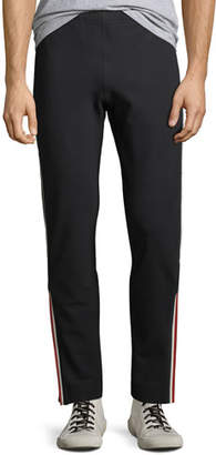 Moncler Men's Side-Stripe Straight-Leg Track Pants