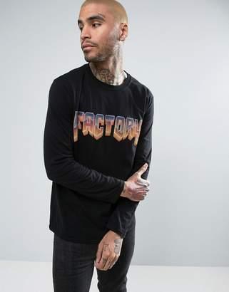 Factory Doom Logo Oversized Long Sleeve T-Shirt