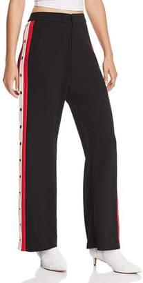 Bardot Side-Stripe Snap Pants