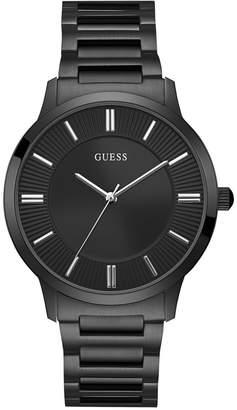 GUESS Men Black Stainless Steel Bracelet Watch 44mm