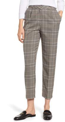 1 STATE 1.STATE Check Plaid Tapered Leg Pants