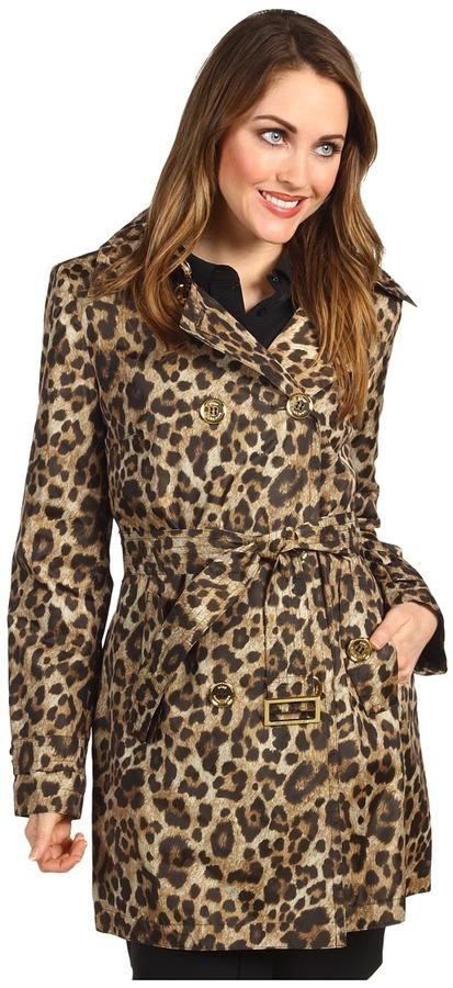 MICHAEL Michael Kors Double-Breased Leopard Trench M720691P Women's Coa