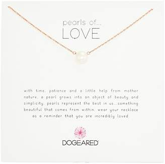 """Dogeared Pearls of Love"""" Sterling and Pearl Necklace"""