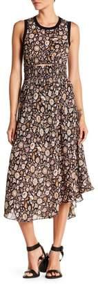 A.L.C. Sandra Floral Silk Asymmetrical Dress
