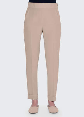 Akris Wide Elastic-Back Tapered Pants