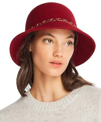 Cloche August Hat Company Feelin It Chain-Trim Wool