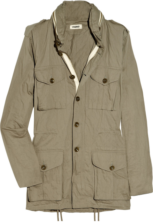 L'Agence Cotton-twill cargo jacket