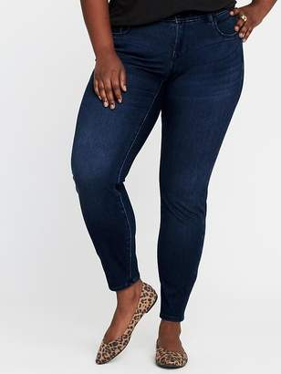 Old Navy High-Rise Secret-Slim Pockets + Waistband Plus-Size Rockstar 24/7 Jeans